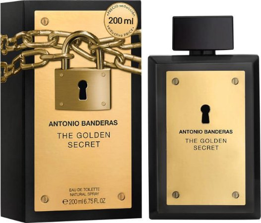 Perfume Golden Secret EDT Masculino 200ml - Antonio Banderas