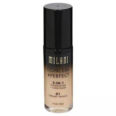 Base 2-in-1 Conceal+Perfect 01 Creamy Vanilla 30ml - Milani