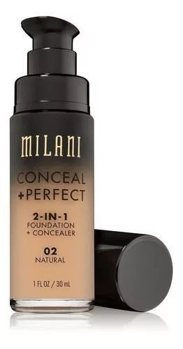 Base 2-in-1 Conceal+Perfect 02 Natural 30ml - Milani