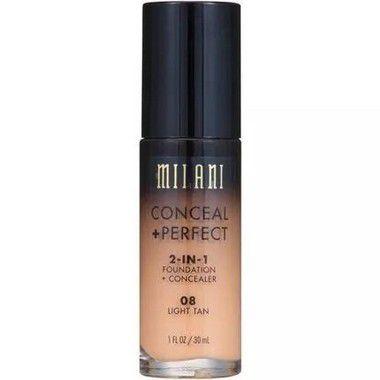Base 2-in-1 Conceal+Perfect 08 Light Tan 30ml - Milani