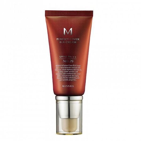 BB Cream Perfect Cover 29 Caramel Beige 50ml - Missha