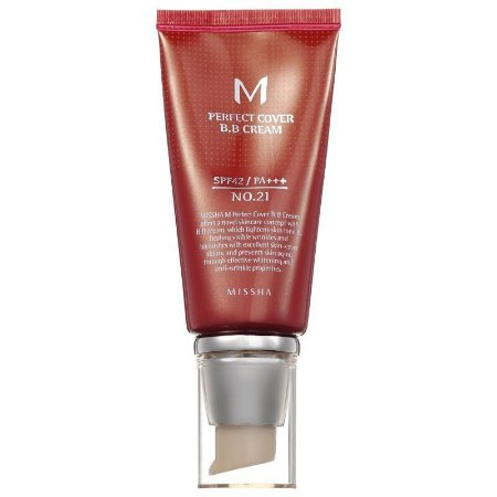 BB Cream Perfect Cover 21 Ligth Beige 50ml - Missha