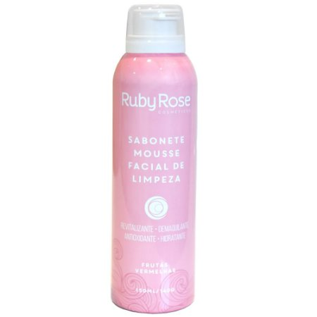 Sabonete Facial Mousse Frutas Vermelhas HB-321 150ml - Ruby Rose