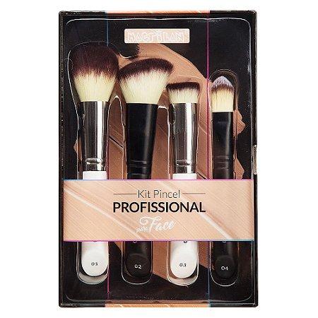 Kit Pincéis para Maquiagem para Face WB200 4pçs - Macrilan