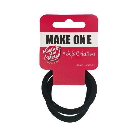 Elástico para Cabelo Make One Sem Metal 2 pçs