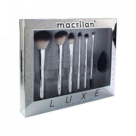 Kit Pincéis de Maquiagem Luxe 7 pçs - Macrilan