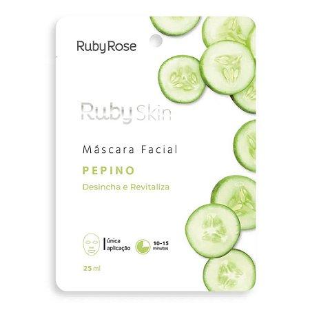 Máscara Facial Desincha e Revitaliza Pepino - Ruby Rose
