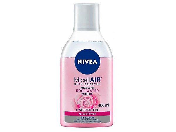 Água Micelar Bifásica Rose Water Nivea 400ml