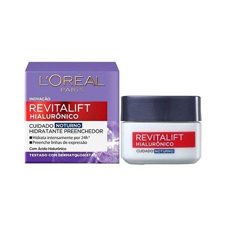 Creme Facial Noturno Revitalift Hialurônico Loréal 49g