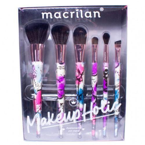 Kit Pincel Makeupholic 6 pç - Macrilan