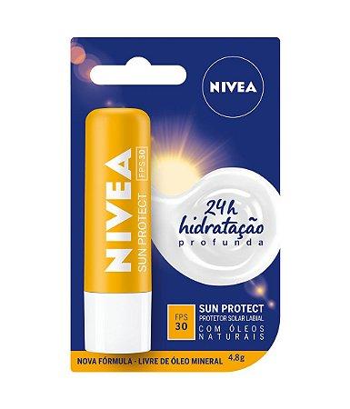 Protetor Solar Labial Sun Protect 24h - Nivea