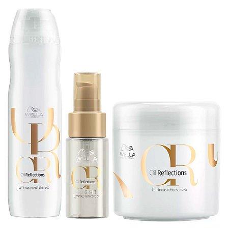 Kit Hidratação Oil Reflections Shampoo Máscara Óleo - Wella