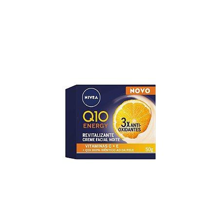 Creme Facial Q10 Energy Revitalizante Noite 50g - Nivea