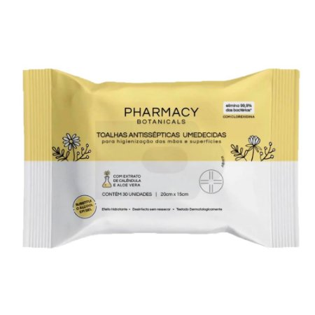 Lenços Umedecidos Antissépticos 30un - Pharmacy Botanicals