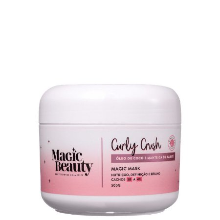 Máscara Capilar Curly Crush 3B a 4C 500g - Magic Beauty