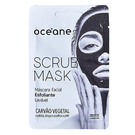 Máscara Facial Esfoliante Scrub Mask Carvão Vegetal - Océane