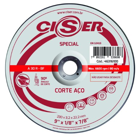 DISCO CORTE ACO CISER SPECIAL180(7)X3,2X22,2