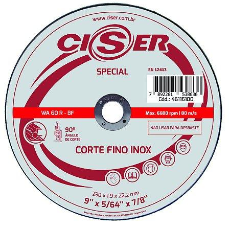 DISCO CORTE INOX CISER SPECIAL 230(9)X1,9X22,2