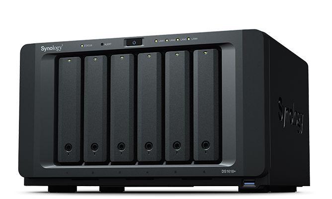 NAS Synology - DS1618+, Quad-Core 2.1Ghz, 4GB de Memória, 4x Gigabit