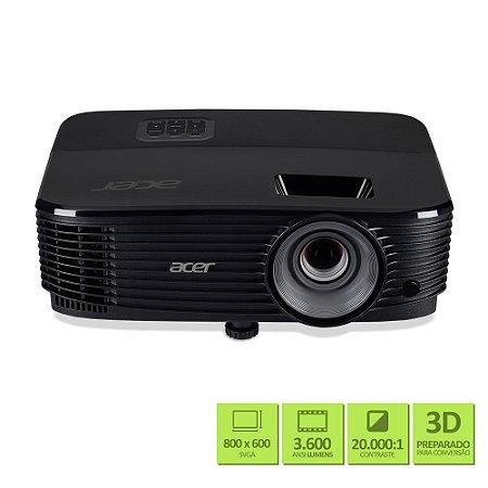 Projetor Acer X1123h / DLP / Svga / 3.600 Lumens - MR.JPQ11.00J