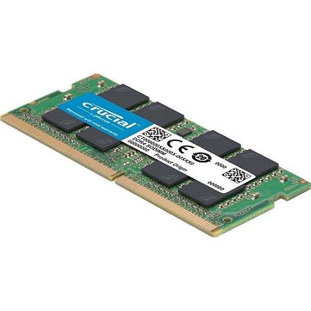 Memória 8GB DDR4 2666mhz 1.2v Crucial para Notebook - CT8G4SFS8266