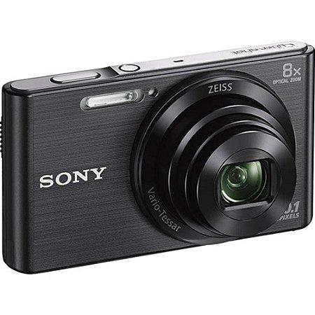 """Câmera Digital Sony Dsc-W830, 20.1MP, Tela 2.7"""", Zoom Óptico 8x, Filma em Hd, Foto Panorâmica"""