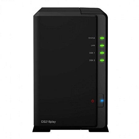 Storage Synology NAS DiskStation Realtek RTD1296 Quad Core 1.4GHz 1GB DDR4 - Torre 2 Baias Sem Disco - DS218PLAY