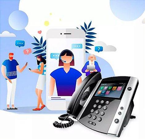 Pabx em Nuvem - Plano Voip Ilimitado Plus - Incluso 1 numéro net2phone e 1 Telefone IP por Ramal.