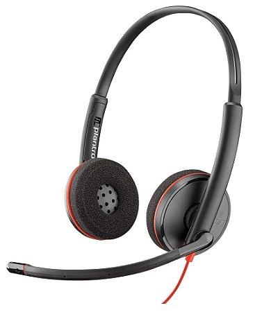 Headset Blackwire USB C3220 Biauricular - Plantronics - 209745-101