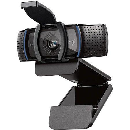 WEB CAM USB Full HD 1080p C920s Com Microfone HD PRO Preto Logitech