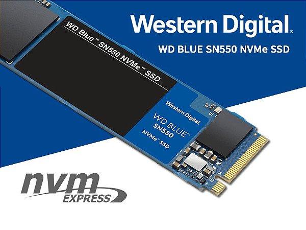SSD WD 500gb Blue M.2 2280 Sn500 Nvme PCI-e - Wds500g2b0c