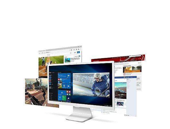 "Computador LG All in One Intel® Core™ i5-7200U, 4GB, 1TB, TV Digital, HDMI, Wireless, Webcam, LED Full HD 23.8"" e Win10"