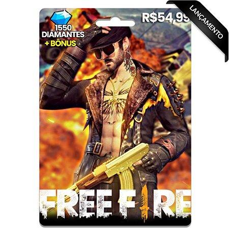 Diamantes Free Fire - 1550 Diamantes