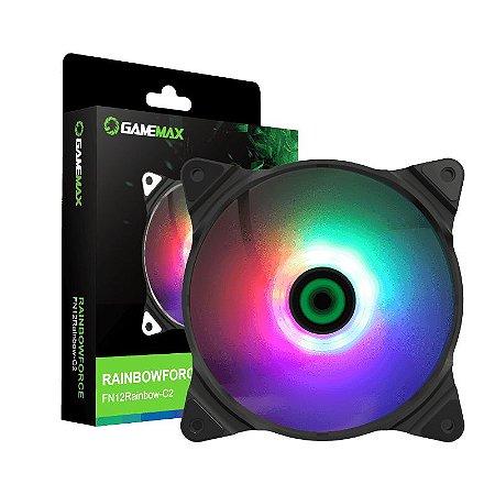 Cooler Gamemax 12cm Rgb Rainbow-c2 Dc12 0.25a