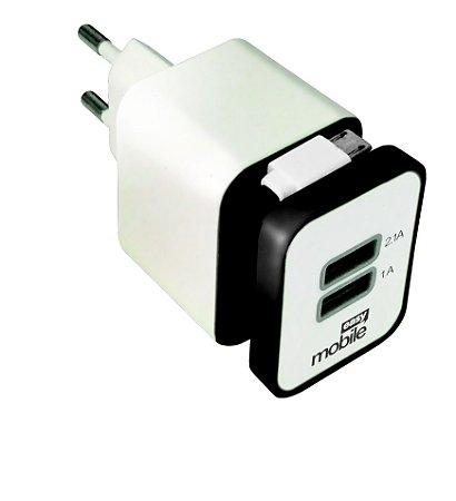 CARREGADOR SMART 2,1 USB PRETO