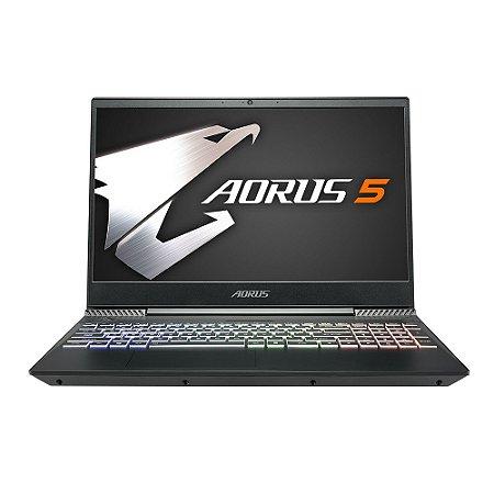 "NOTEBOOK AORUS 5 15.6"" I7 9TH GTX1650 8GB M2-256GB HD-1TB W10H"