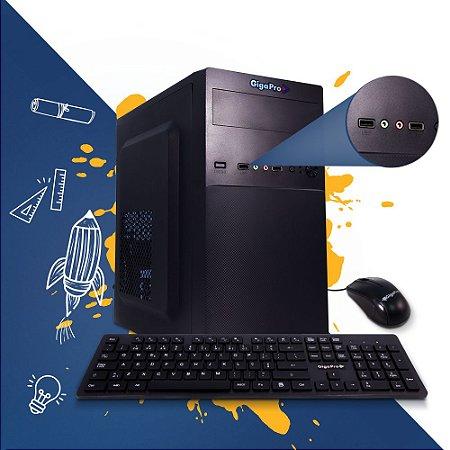 PC GIGAPRO COM CURSO PREPARATÓRIO PARA O ENEM  CELERON DUAL CORE 4GB SSD240GB  WIN10  C/ MOUSE E TECLADO COM FIO E MOUSE PAD 30x20cm