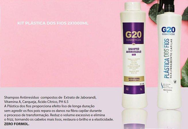 G20 - Plastica dos Fios - Kit 1 Litro + Shampoo 1 L