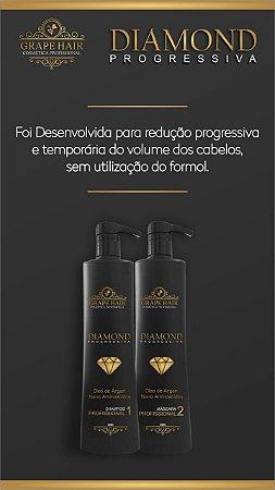 Diamond Plastia - Progressiva Sem Formol Kit 1L - Grape Hair