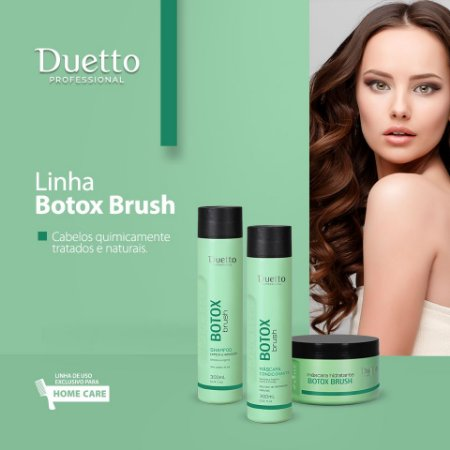 Kit Botox Brush Duetto- Shampoo, condicionador e máscara