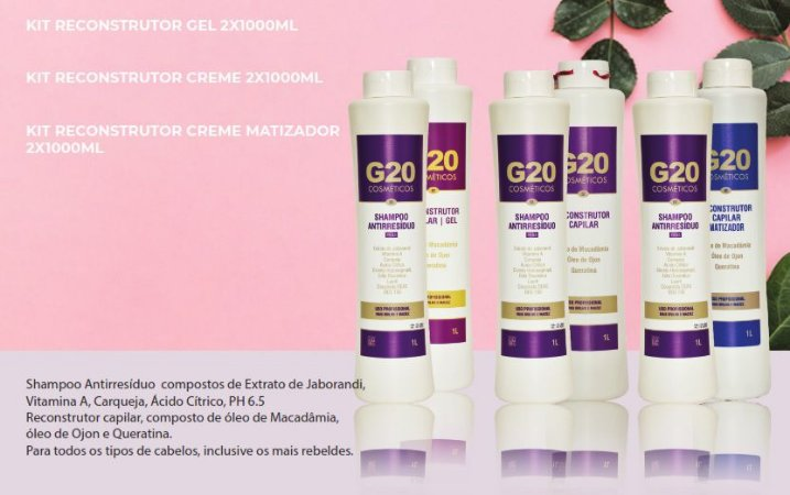 Kit Reconstrutor G20 - 1L + Sh 1L