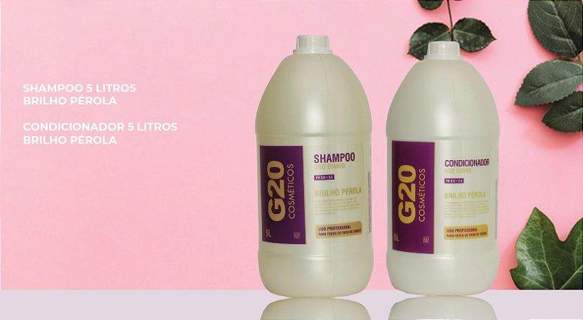 Shampoo e Condicionador G20 - 5L - Brilho e Pérola