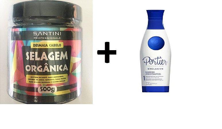 1 Selagem 500g Santini + 1 Shampoo Portier 1L