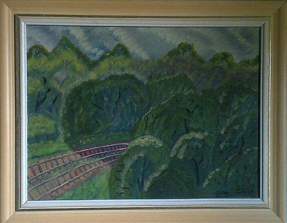 Estradas de trem 30x40cm