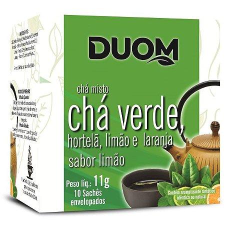 Chá Verde com Hortelã, Laranja e Limão 10 saches Duom