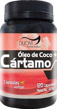 Oleo de Cartamo + Coco 1000mg 120caps Duom