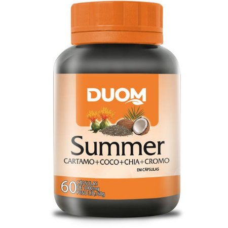 Summer 1000mg - Oleo de Cartamo, Chia, Coco e Cromo 60 capsulas Duom