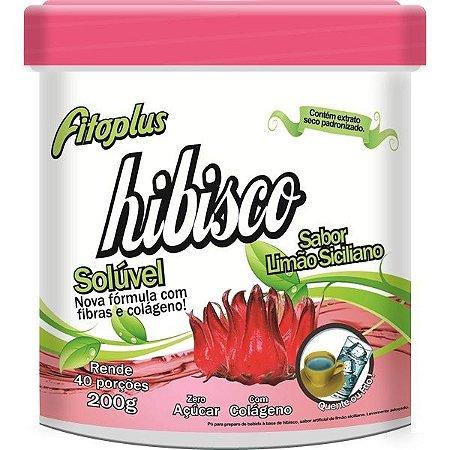 Chá de Hibisco Solúvel Fitoplus Sabor Limão Siciliano 200g