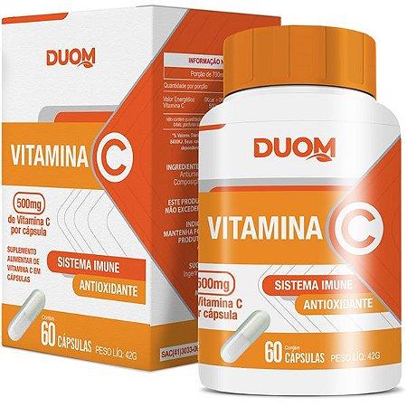 Cartucho Vitamina C 500mg 60caps Duom