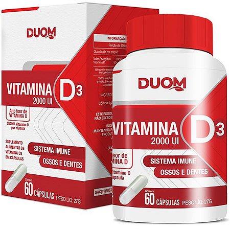 Cartucho Vitamina D3 2000UI 60caps Duom